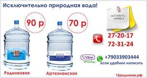 Доставка родниковой воды в Оренбурге.