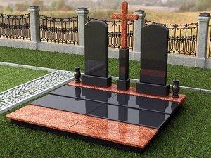 Памятники из гранита и мрамора на кладбище