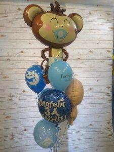 Воздушные шары на выписку из роддома заказать в Череповце