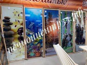 Стеклянные двери для бани в Вологде