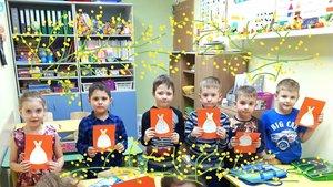 """Дошколята курса """"Подготовка к школе"""" Бэби Академии поздравили своих мам с 8 Марта оригинальными открытками ручной работы"""