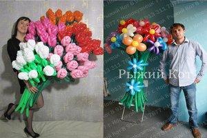 Букеты из воздушных шаров – необычная альтернатива цветочному букету