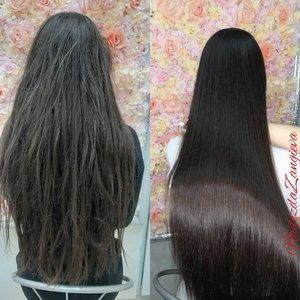 Восстановление-выпрямление волос