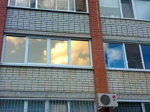 Зеркальная тонировка стекол балкона или лоджии