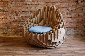 Неожиданное применение: мебель из гофрокартона
