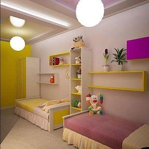 Советы по выбору мебели для комнаты двух девочек