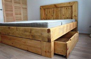 Кровать из массива сосны Вологда