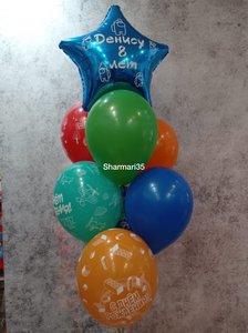 Воздушные шарики с игрой Among Us