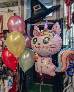 Воздушные шары с кошками и единорогами купить заказать в Череповце