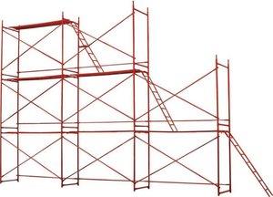 Леса строительные для проведения ремонтных работ на фасадах зданий