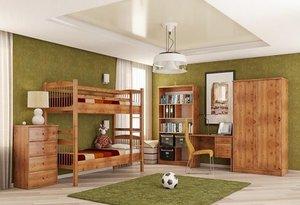Деревянная мебель для детской комнаты из сосны
