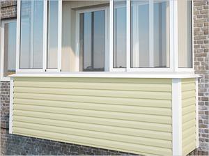 Отделка балкона сайдингом: внутренняя и наружная