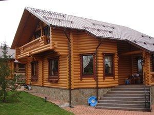 Строительство дома из оцилиндрованного бревна под ключ в Череповце