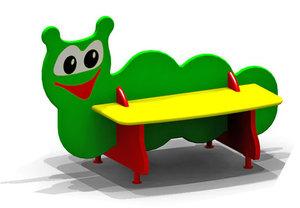 Детские скамейки. Яркие и красочные!