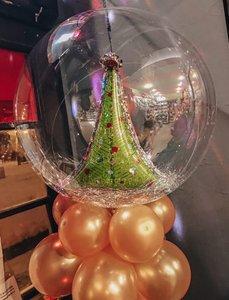 Новогодние композиции с воздушными шарами для украшения помещения купить заказать в Череповце