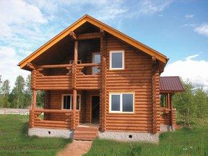 Дом из оцилиндрованного бревна в Череповце
