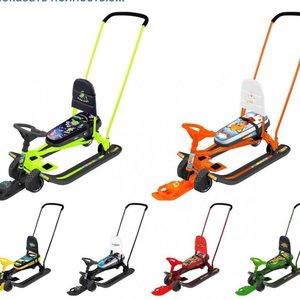"""Снегокат"""" Тимка- спорт 6 """" Преимущества: 2 в 1: колеса и полозья позволяют свободно передвигать снегокат по любой дороге."""