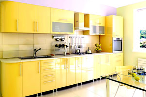 Заказать глянцевые кухни в Вологде