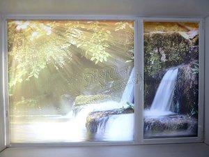 Изготовление рулонных штор на окна с фотопечатью