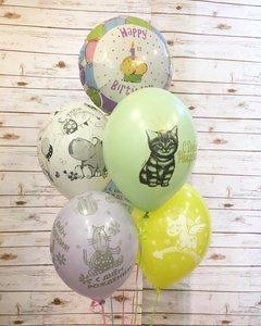 Воздушные шары пастельные нежные цвета в Череповце