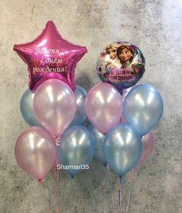 Воздушные шары в стиле Холодное сердце купить заказать в Череповце