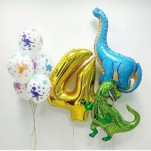 Воздушные шарики с динозаврами на детский день рождения