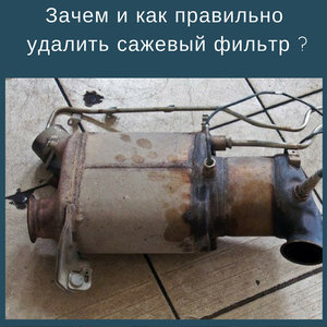 Зачем и как правильно удалить сажевый фильтр?