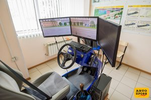Учебный симулятор вождения автомобиля!