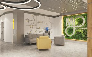 Дизайн-проект интерьера для офисного здания