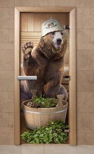 Купить стеклянные двери для бани с фотопечатью