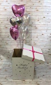 Коробка сюрприз с воздушными шарами в Череповце