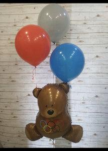 Воздушный шар олимпийский мишка в Череповце