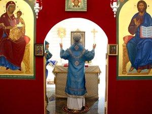 Архиерейское богослужение и закладка камня Воскресной школы