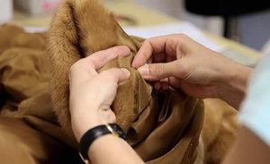 Замена подкладки мехового изделия