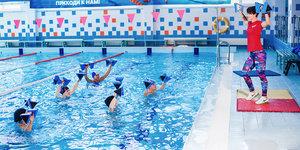 Занятия аквааэробикой в бассейне Ква-Ква в Вологде