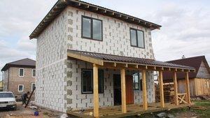 Заказать строительство дома из пеноблоков под ключ в Череповце