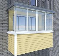 Пластиковый балкон в Вологде