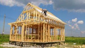 Сборка каркасного дома. Недорогое и качественное строительство!