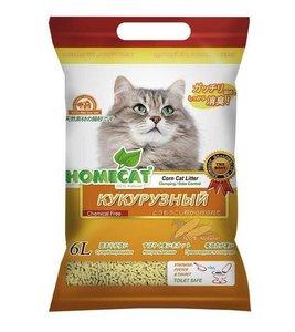Наполнитель для кошачьего туалета Homecat Эколайн Кукурузный