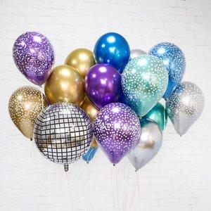 Воздушные шарики хром с рисунком и без купить заказать в Череповце