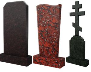 Памятники на кладбище в Череповце