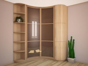 Скучный интерьер? Всего один элемент в комнате - и проблемы нет! Радиусные шкафы под заказ – чудо-находка креативщика.