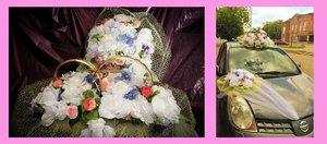 Украшение на свадебный автомобиль в прокат в Череповце