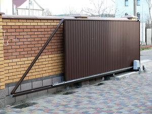 Откатные ворота. Простая конструкция, легкое использование!