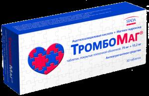 Средство для профилактики тромбоза и острой сердечной недостаточности Тромбомаг