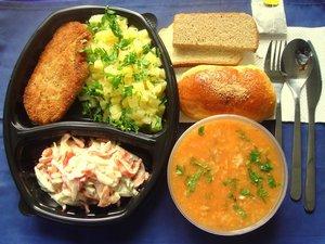 Меню на 2 февраля. Доставка обедов в офис Оренбург.