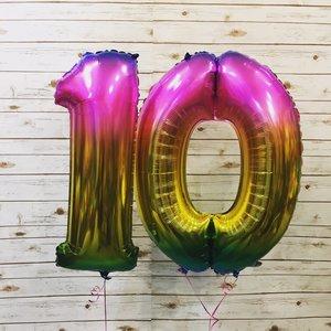 Воздушные шары цифры с гелием