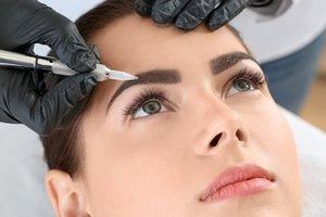 Перманентный макияж: брови, веки, губы