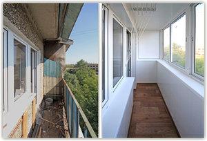 Внутренняя отделка балконов, лоджий.