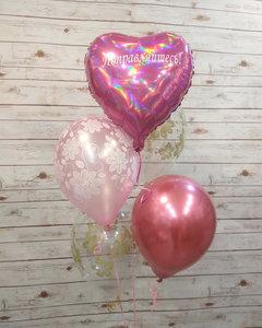 Фонтан из воздушных шаров для девочки купить в Череповце